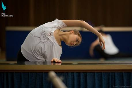 Miko Fogarty at the Prix de Lausanne 2015 wearing the Aurora