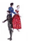 ONEGIN, PRINCE GREMIN AND TATIANA, act III: After Thiago Soares, Ryoichi Hirano and Marianela Nunez