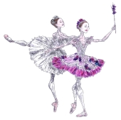 AURORA AND THE LILAC FAIRY, Act II: after Marianela Nunez and Claire Calvert