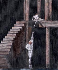 BALCONY SCENE, Act II: after Sarah Lamb and Steven McRae