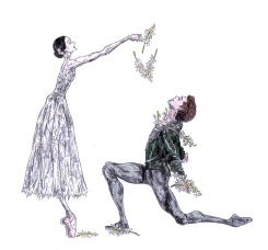 GISELLE AND ALBRECHT, Act II: after Natalia Osipova and Matthew Golding