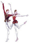 RUBIES PAS DE DEUX: after Sarah Lamb and Steven McRae