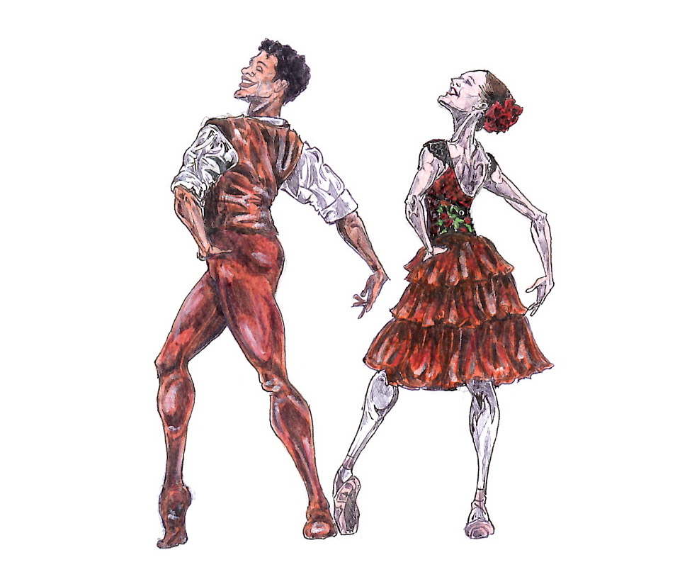 KITRI AND BASIL, Act I: after Marianela Nunez and Carlos Acosta