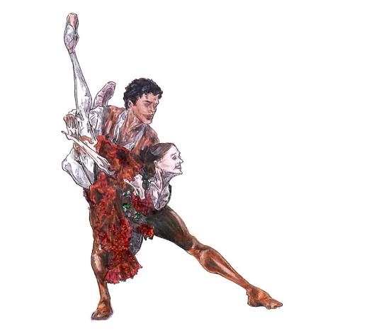 KITRI AND BASIL, Act I: after Marianela Nunez and Carlos Acosta