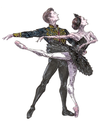 ODILE AND SIGFRIED PAS DE DEUX, Act III: after Marianela Nunez and Vadim Muntagirov